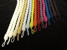 Chunky rope curtain tiebacks  - PER PAIR - 15 COLS -   Tie backs are 80cm inc loop